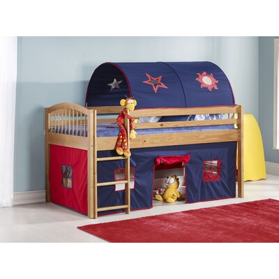 Abigail Twin Loft Bed Color: Cinnamon/Blue