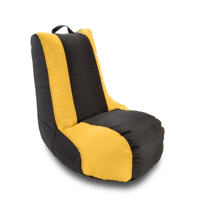 Double Stitched Bean Bag Lounger Upholstery: Black / Gold