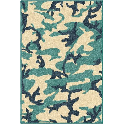 Scarlett Camouflage Beige/Blue Area Rug