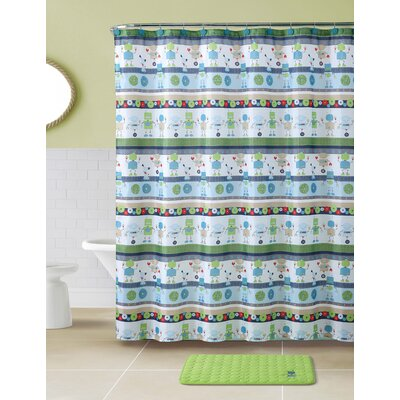 Archie Robot Shower Curtain Set