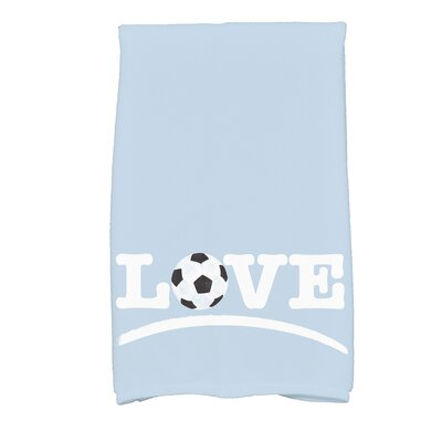 Bauer Football Word Hand Towel Color: Light Blue