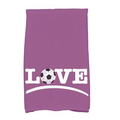 Bauer Football Word Hand Towel Color: Pink