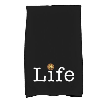 Bauer Life and Ball Word Hand Towel Color: Red