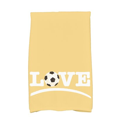 Bauer Football Word Hand Towel Color: Yellow
