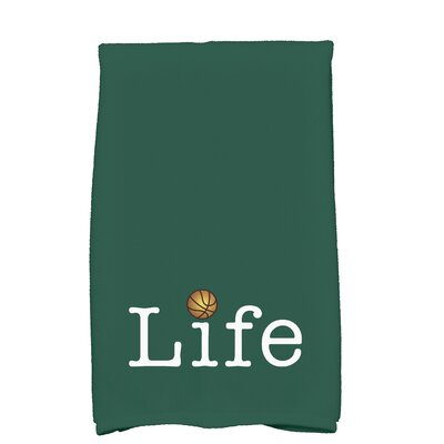 Bauer Life and Ball Word Hand Towel Color: Green