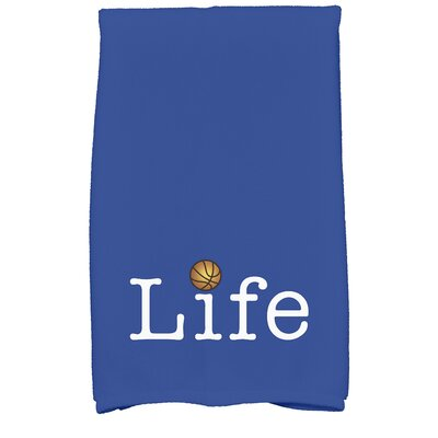 Bauer Life and Ball Word Hand Towel Color: Royal Blue