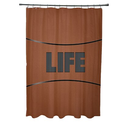 Bauer Life Word Shower Curtain