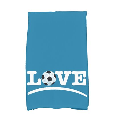 Bauer Football Word Hand Towel Color: Teal