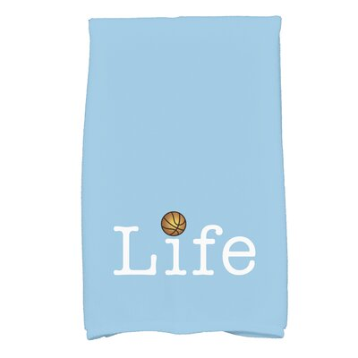 Bauer Life and Ball Word Hand Towel Color: Blue