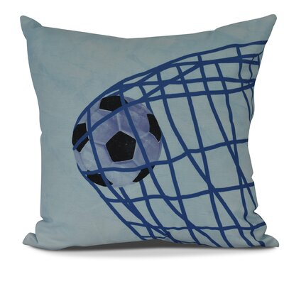 Bauer Goal! Outdoor Throw Pillow Size: 20 H x 20 W