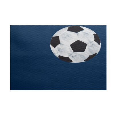Bauer Navy Blue Area Rug Rug Size: 2 x 3