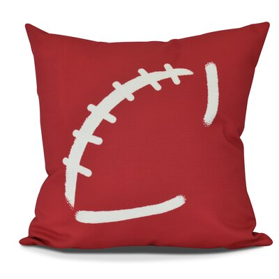 Bauer Football Throw Pillow Size: 16 H x 16 W, Color: Red