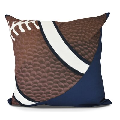 Bauer TD Throw Pillow Size: 16 H x 16 W, Color: Navy Blue