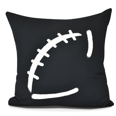 Bauer Football Throw Pillow Size: 18 H x 18 W, Color: Black