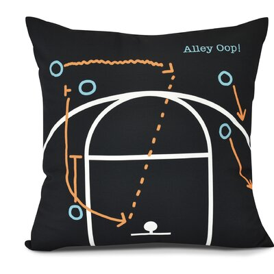 Bauer Alley Oop! Throw Pillow Size: 18 H x 18 W, Color: Black