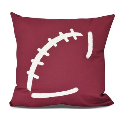 Bauer Football Throw Pillow Size: 26 H x 26 W, Color: Cranberry