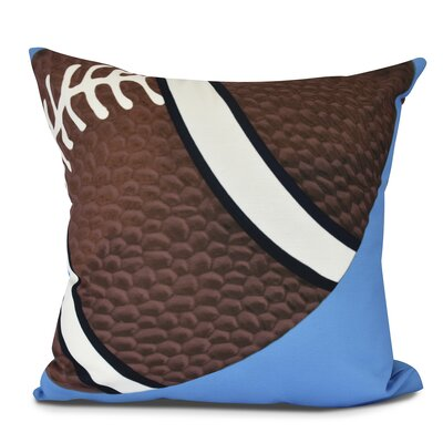 Bauer TD Throw Pillow Size: 26 H x 26 W, Color: Blue