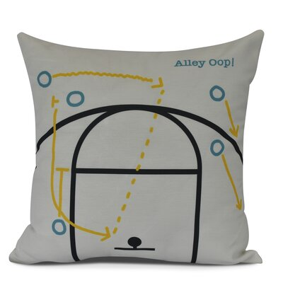 Bauer Alley Oop! Throw Pillow Size: 18 H x 18 W, Color: White