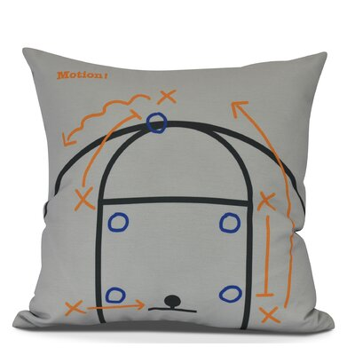 Bauer Motion! Throw Pillow Color: Gray, Size: 20 H x 20 W