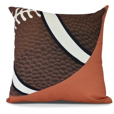 Bauer TD Throw Pillow Size: 18 H x 18 W, Color: Orange