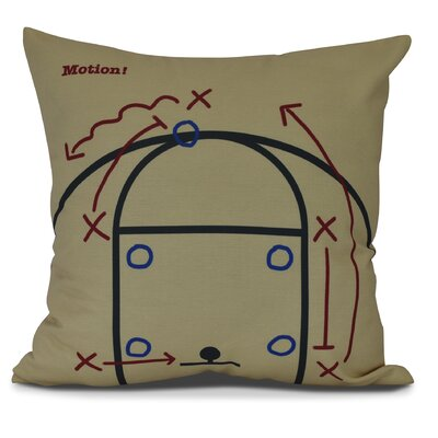 Bauer Motion! Throw Pillow Size: 16 H x 16 W, Color: Gold