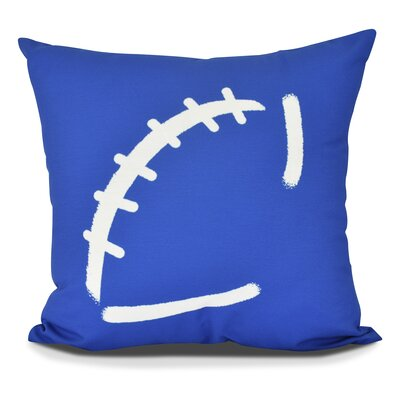 Bauer Football Throw Pillow Size: 18 H x 18 W, Color: Royal Blue