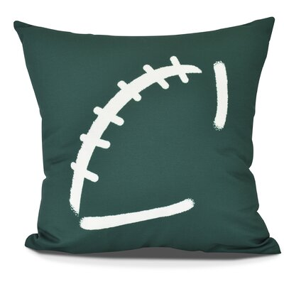 Bauer Football Throw Pillow Size: 26 H x 26 W, Color: Green