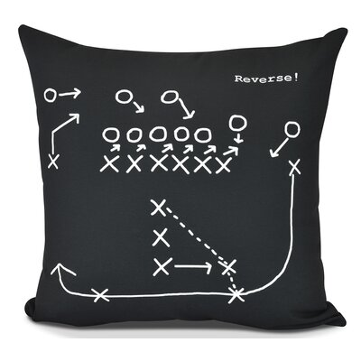 Bauer Reverse! Throw Pillow Color: Black, Size: 20 H x 20 W