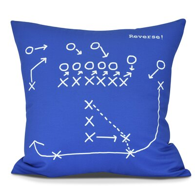 Bauer Reverse! Throw Pillow Size: 18 H x 18 W, Color: Royal Blue