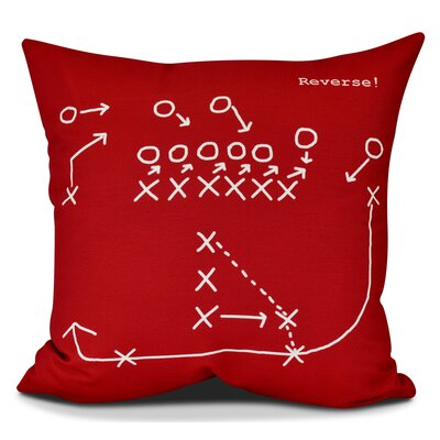 Bauer Reverse! Throw Pillow Size: 16 H x 16 W, Color: Red