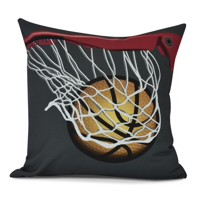 Bauer All Net Throw Pillow Size: 16 H x 16 W, Color: Black
