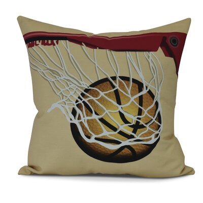 Bauer All Net Throw Pillow Size: 20 H x 20 W, Color: Gold
