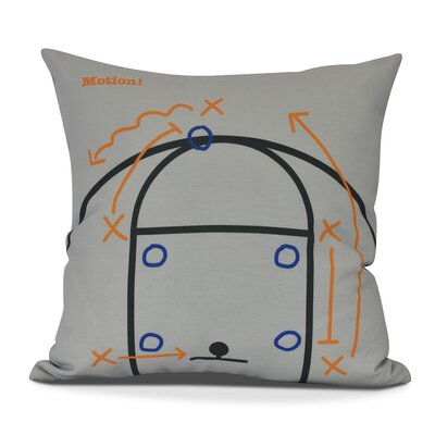 Bauer Motion! Outdoor Throw Pillow Size: 18 H x 18 W, Color: Gray