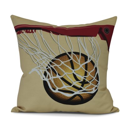 Bauer All Net Outdoor Throw Pillow Size: 18 H x 18 W, Color: Gold