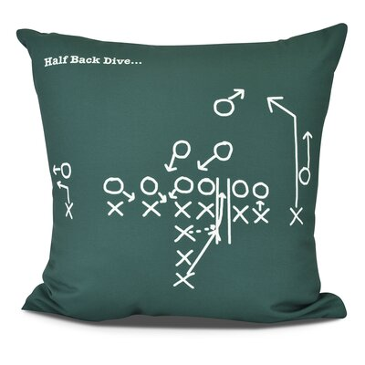Bauer Half Back Dive Outdoor Throw Pillow Size: 16 H x 16 W, Color: Green