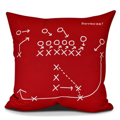 Bauer Reverse! Outdoor Throw Pillow Size: 18 H x 18 W, Color: Red