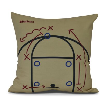 Bauer Motion! Outdoor Throw Pillow Size: 18 H x 18 W, Color: Gold