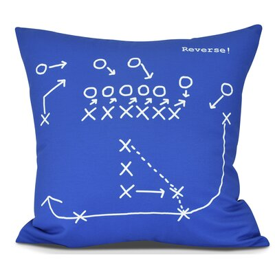 Bauer Reverse! Outdoor Throw Pillow Size: 18 H x 18 W, Color: Royal Blue