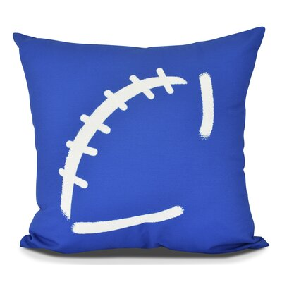 Bauer Football Outdoor Throw Pillow Size: 18 H x 18 W, Color: Royal Blue