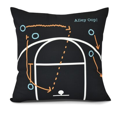 Bauer Alley Oop! Outdoor Throw Pillow Color: Black, Size: 18 H x 18 W