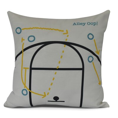 Bauer Alley Oop! Outdoor Throw Pillow Size: 18 H x 18 W, Color: White
