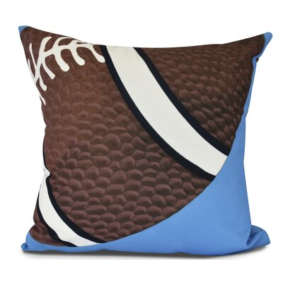Bauer TD Outdoor Throw Pillow Size: 18 H x 18 W, Color: Blue