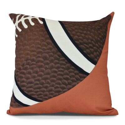 Bauer TD Outdoor Throw Pillow Size: 16 H x 16 W, Color: Orange