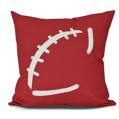 Bauer Football Outdoor Throw Pillow Size: 20 H x 20 W, Color: Red