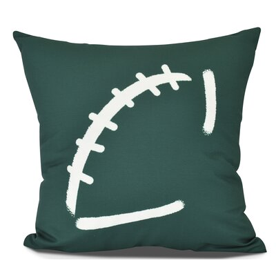 Bauer Football Outdoor Throw Pillow Size: 16 H x 16 W, Color: Green