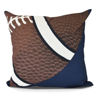 Bauer TD Outdoor Throw Pillow Size: 16 H x 16 W, Color: Navy Blue