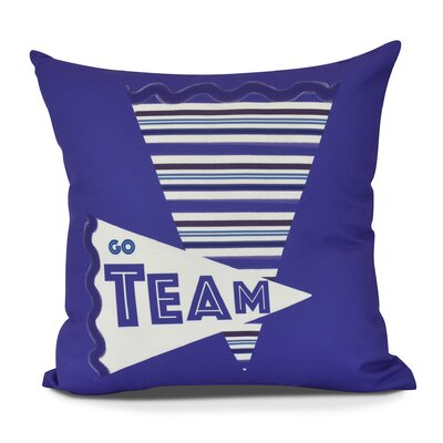 Bauer Go Team! Word Throw Pillow Size: 16 H x 16 W, Color: Purple