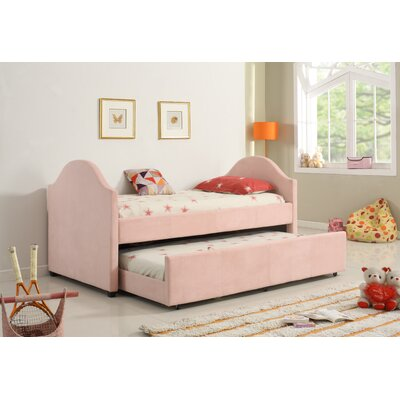Imani Twin Captain Bed Color: Pink