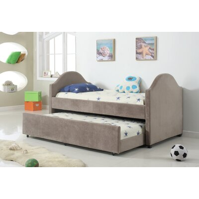 Imani Twin Captain Bed Color: Taupe