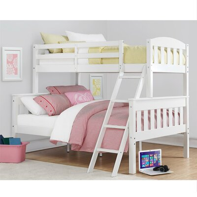 Immanuel Twin over Full Bunk Bed Finish: White